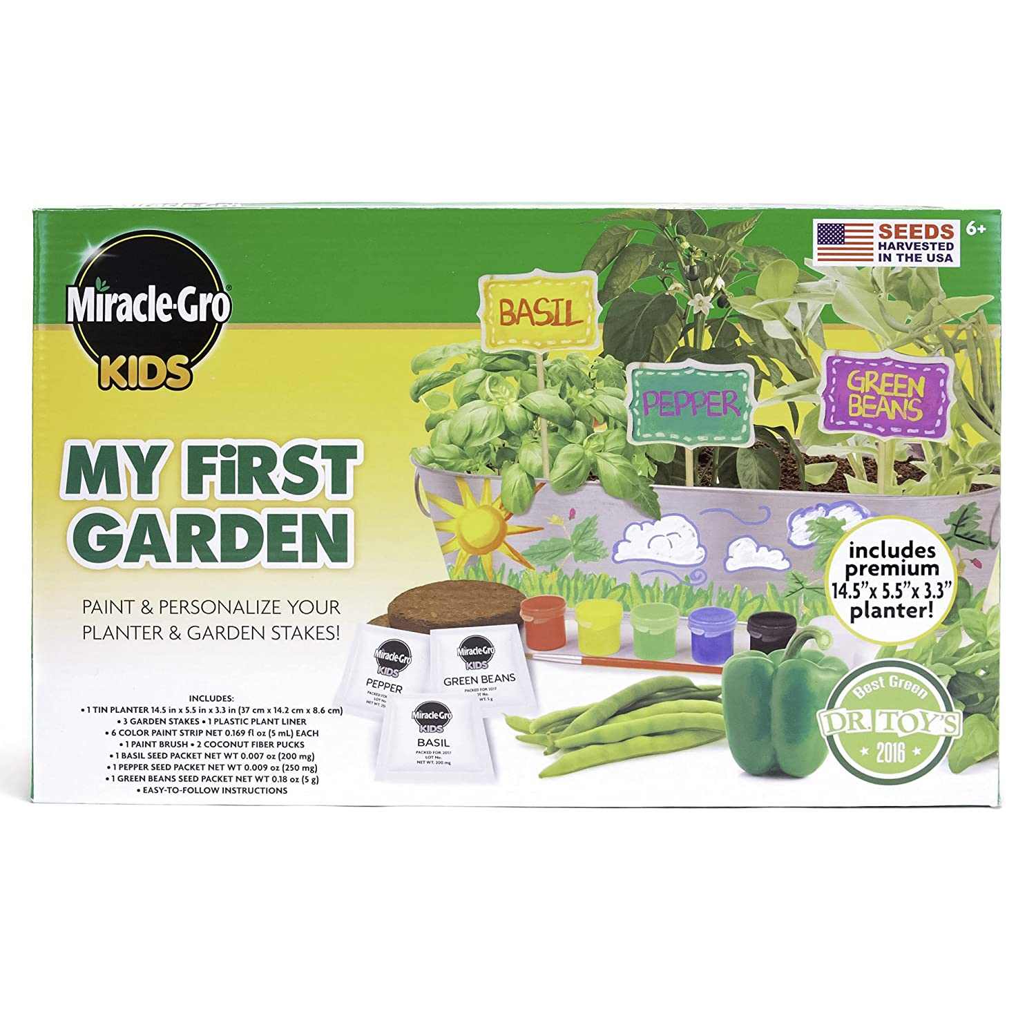 Amazoncom Miracle Gro Kids My Very Own Flower Garden By Horizon