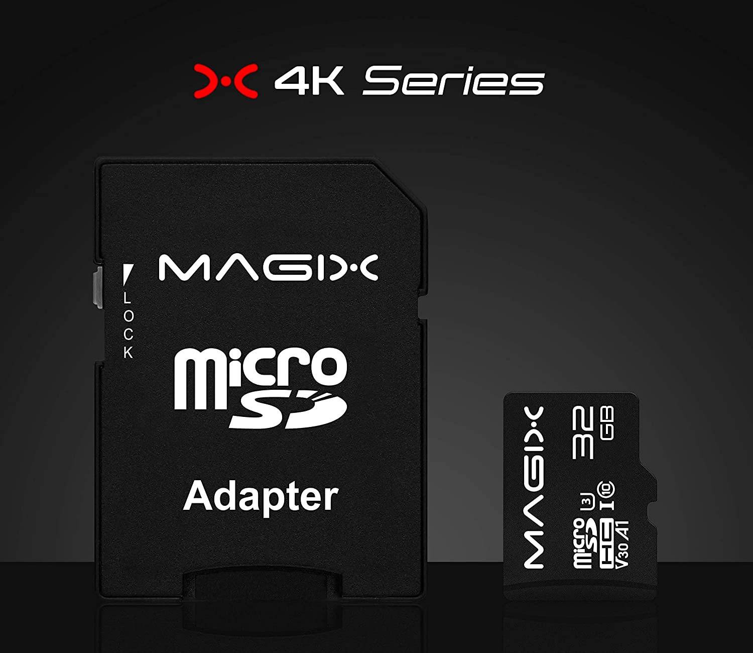 Micro SD Card 128GB MAGIX 4K Series Class10 V30 SD Adapter UP to 100MB//s