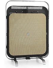 Klarstein HeatPal Marble Blackline Chauffage Infrarouge avec Thermostat • Chauffage Mobile • 1300W • jusqu'à 30 m² • Accumulation de Chaleur • Plateau en marbre • Argent