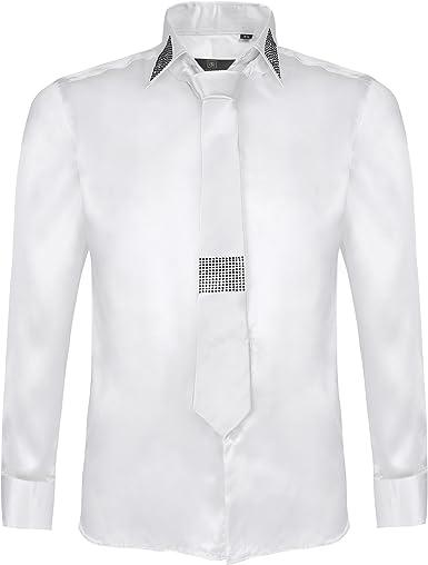 Colección de camisas y corbata de algodón y satén para hombre: Amazon.es: Ropa y accesorios
