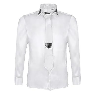 Conjunto de Camisa y Corbata de Manga Larga para Hombre: Amazon.es ...
