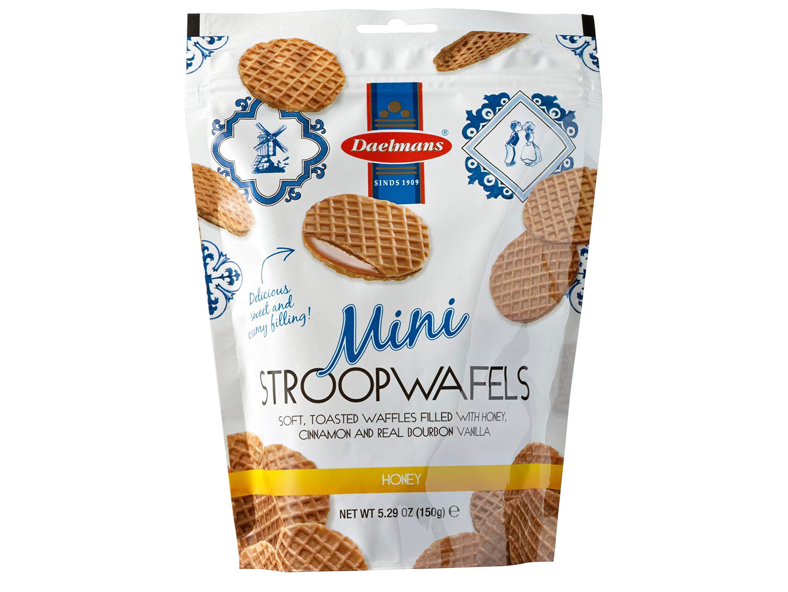 Daelmans Stroopwafel Minis, Honey, 5.29 oz