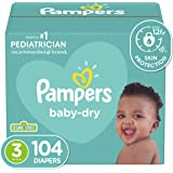 Diapers Size 3 - Pampers Baby Dry Disposable Baby Diapers, 104 Count, Super Pack (Packaging May Vary)