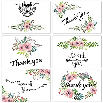 Amazon Thank You Cards Flower Greeting Cards Floral Thank You