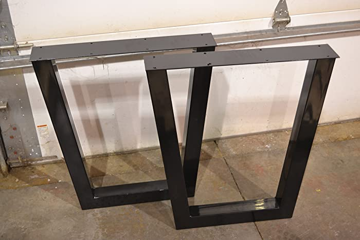 Attractive Metal Table Legs, Tapered Style   Any Size And Color!