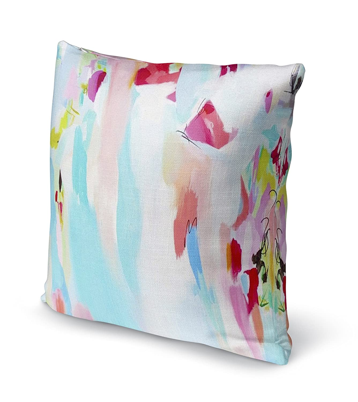 Blue//Pink//Red//Green SSKAVC3509DI18 Size: 18X18X6 - KAVKA Designs Tattoo Testimonial Accent Pillow, - Encompass Collection