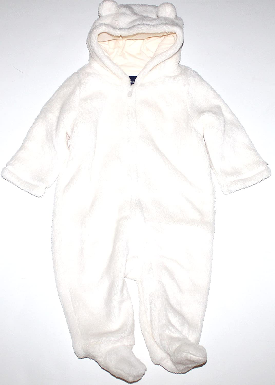 ef52e4131b35 Amazon.com  Baby Gap Infant Boy Girl Ivory Fleece Hooded   Footed ...