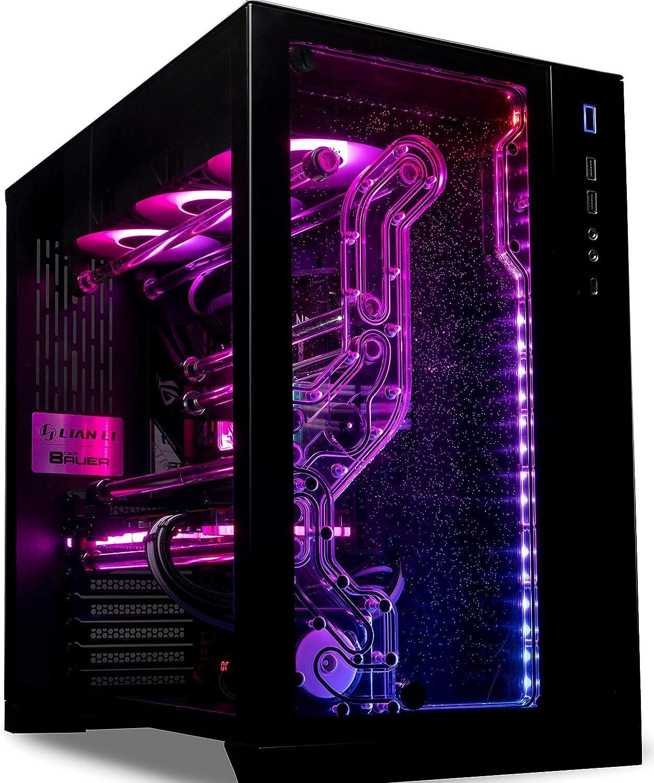 EK Fluid Gaming PC 276-AG Vanquish AMD Ryzen 7 3800X & NVIDIA RTX 2080 Super with Full Water Cooling Loop, 1TB 970 EVO M.2 SSD, 32GB DDR4 RGB RAM, 1TB 970 EVO M.2 SSD, Prebuilt Desktop Computer