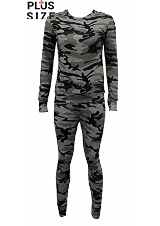 fashion 1st - Chándal - para mujer multicolor camouflage XXXL ...
