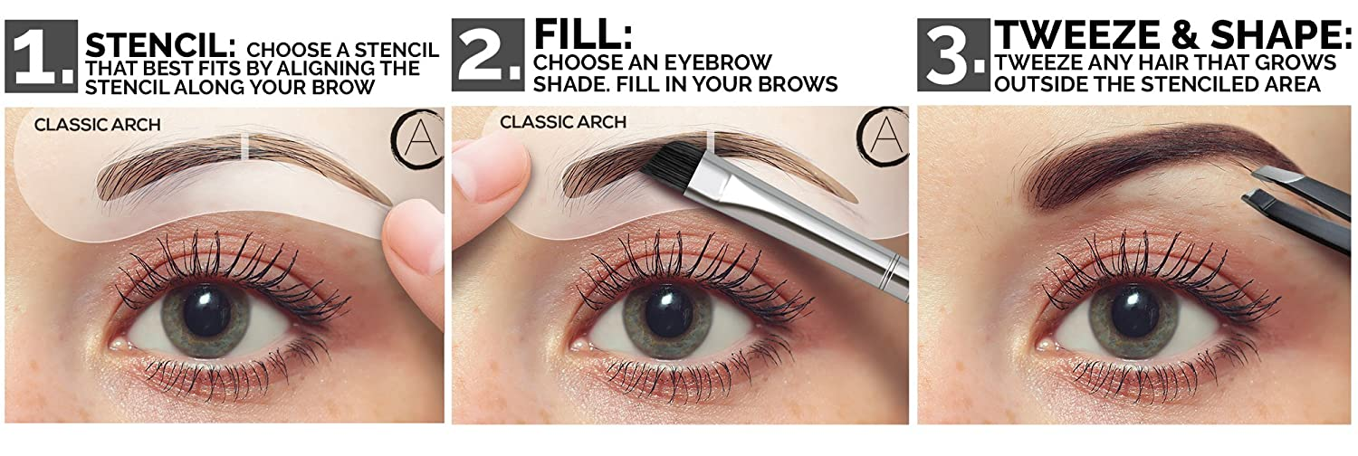 Amazon Aesthetica 5 Piece Brow Stencils Easy To Use