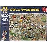 Diset - 617077 - Puzzle Classique - Comic 1500 - Visite A La Ferme - 1500 Pièces