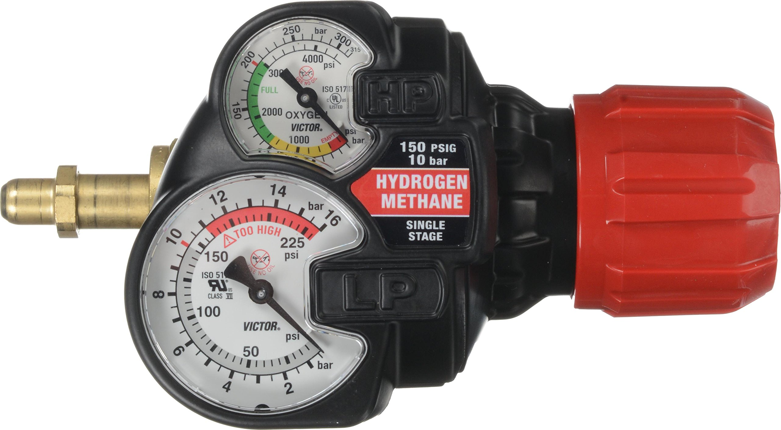 Victor 0781-3612 Series Edge 2.0 ESS42-150-350 Regulator, Methane/Hydrogen