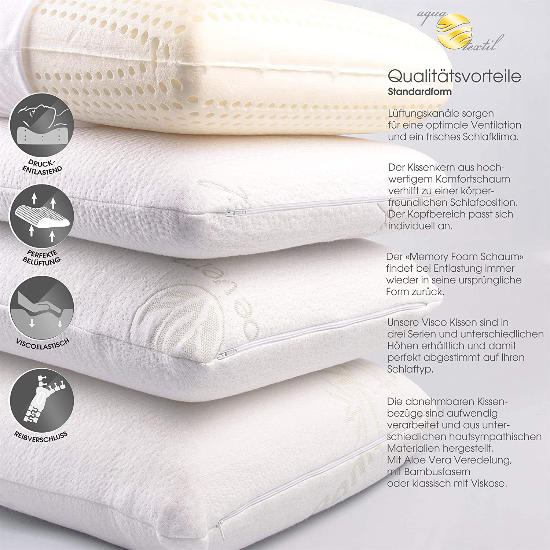 aqua-textil Almohada Viscoelástica Torrent, 2 variedades en ...