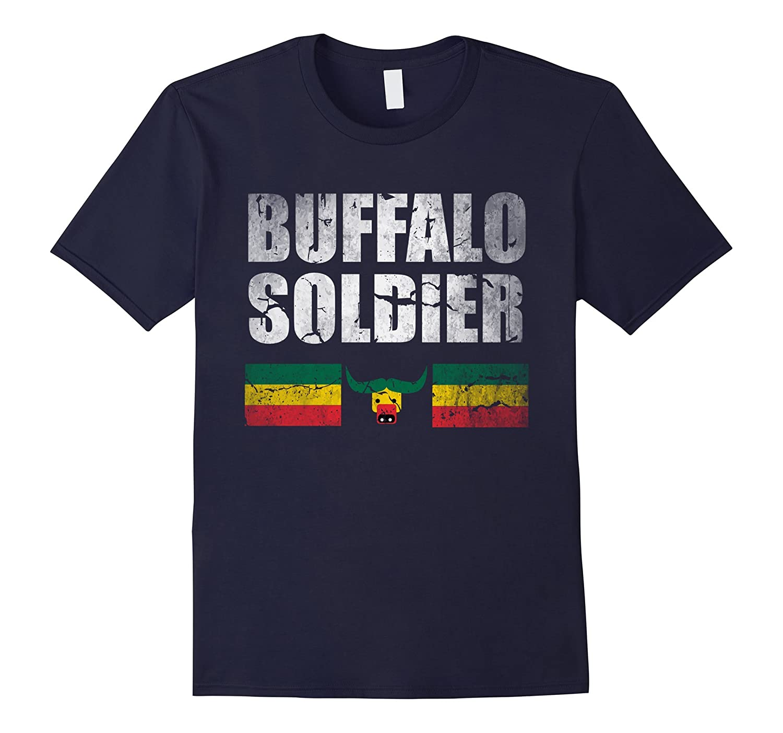 Buffalo Soldier Tshirt - Rasta Reggae Style for Men  Women-TD