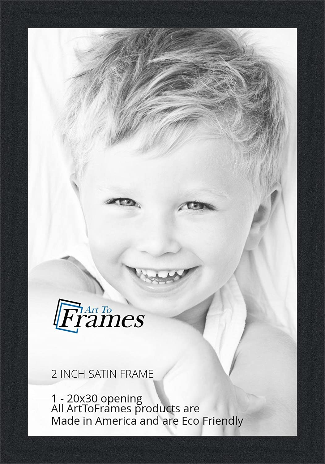 Amazon.com - ArtToFrames 20x30 inch Satin Black Picture Frame ...