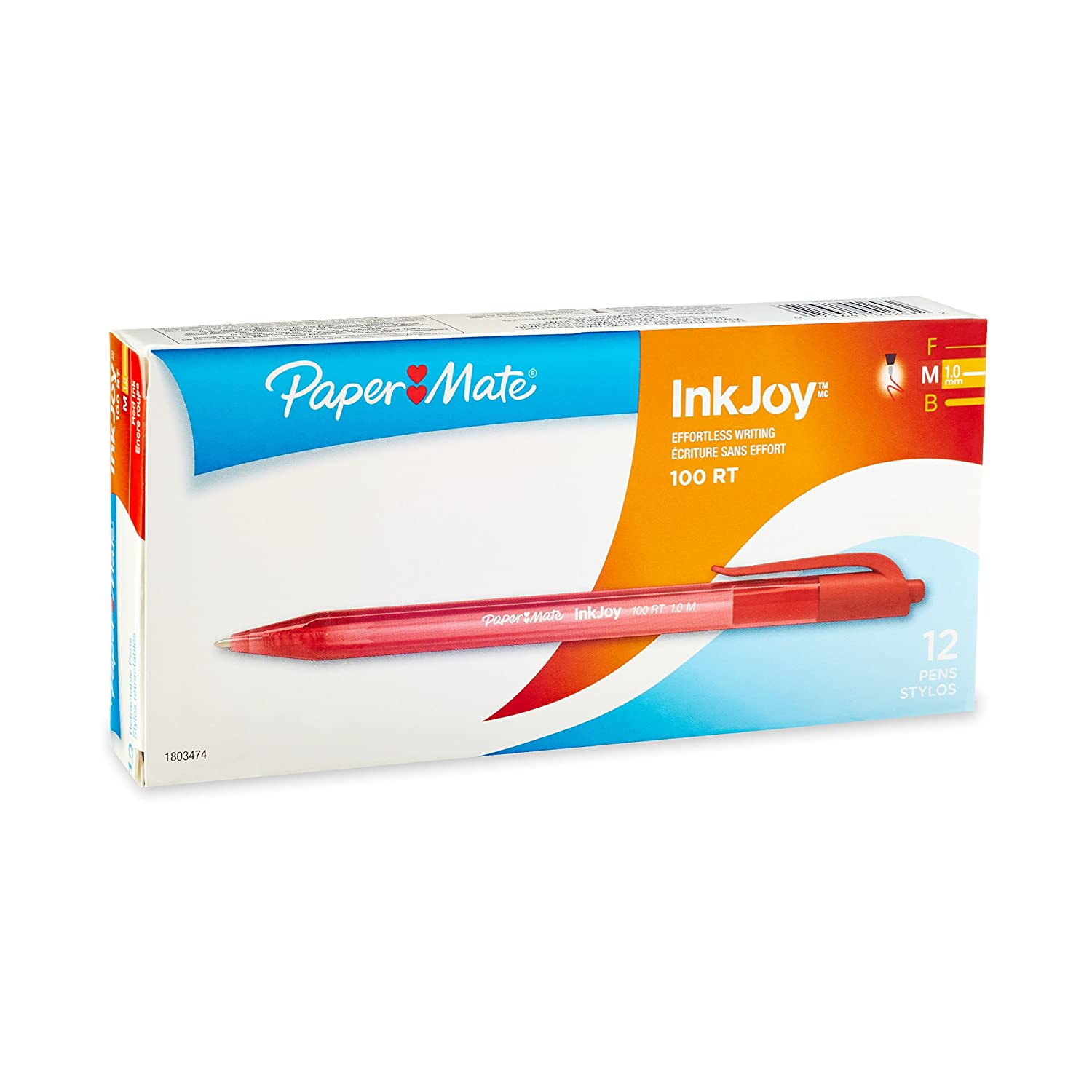 Paper Mate InkJoy 100 RT Retractable Medium Point Advanced Ink Pens, 8 Fashion Coloured Ink Pens (1818459) Sanford Office Supplies
