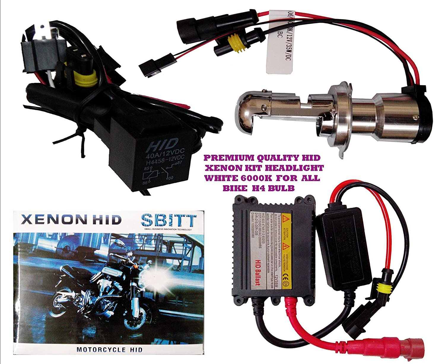 Premium Quality H4 Hid Xenon Headlight For All Bikes Car Wiring Diagram Motorcycle Motorbike