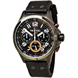 TW Steel Unisex-Armbanduhr Pilot Sonder Edition Chronograph Quarz Leder TW-430