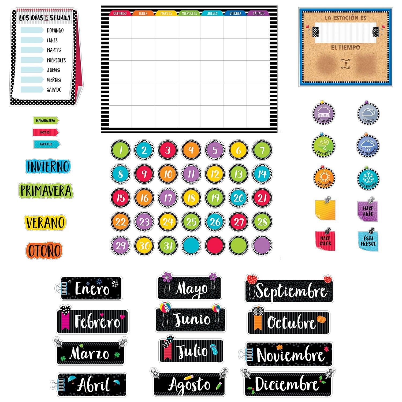 Creative Teaching Press Bold & Bright Spanish Calendar Set Bulletin Board, CTP (2960)
