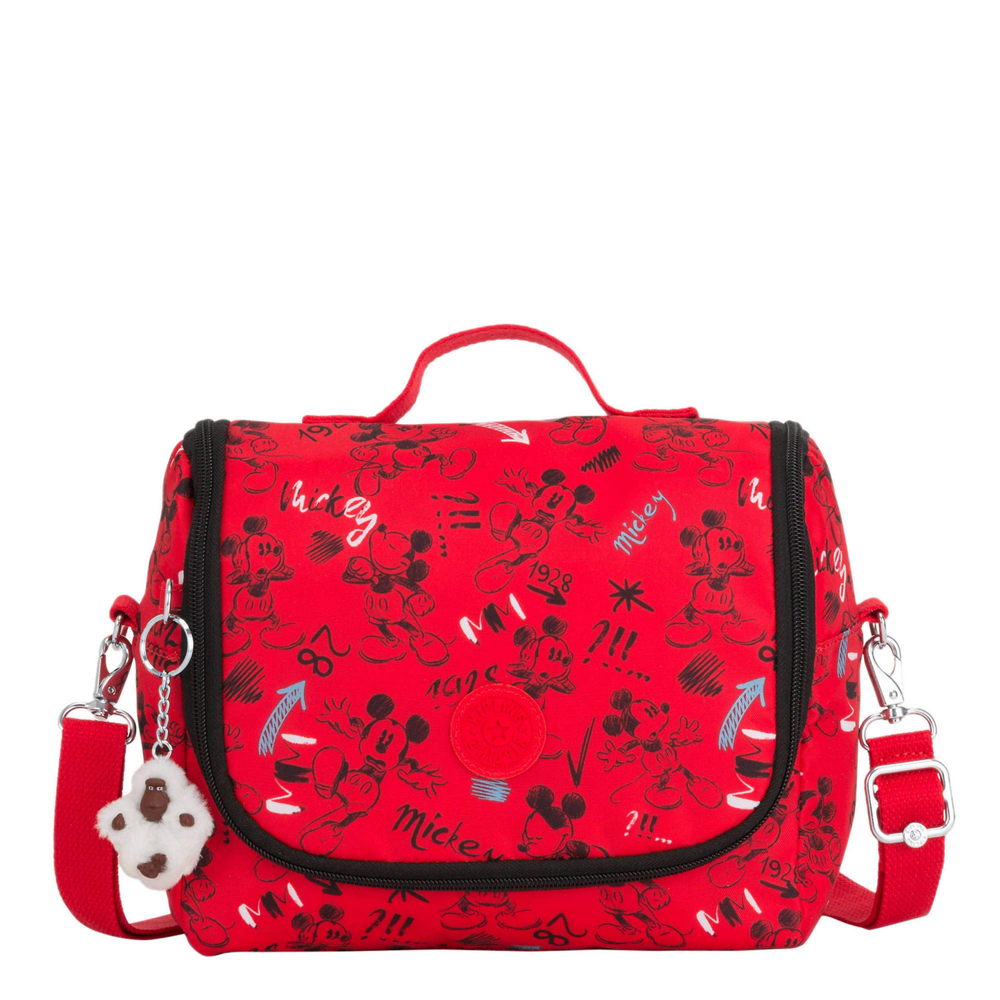 Kipling Disney's Minnie Mouse And Mickey Mouse Kichirou Lunch Bag Sketch Red