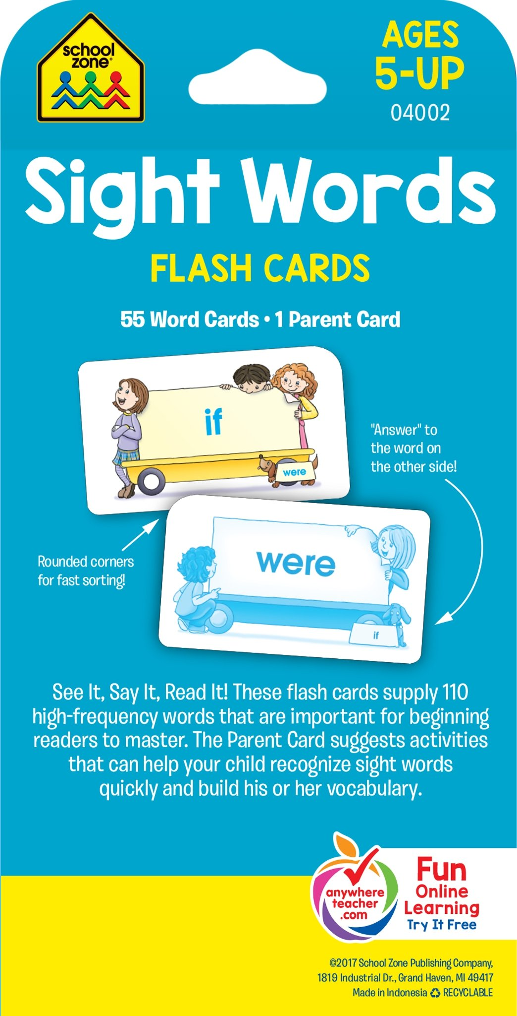 school zone sight words flash cards ages 5 and up early reading sight reading sight words and more 0689752835650 amazoncom books