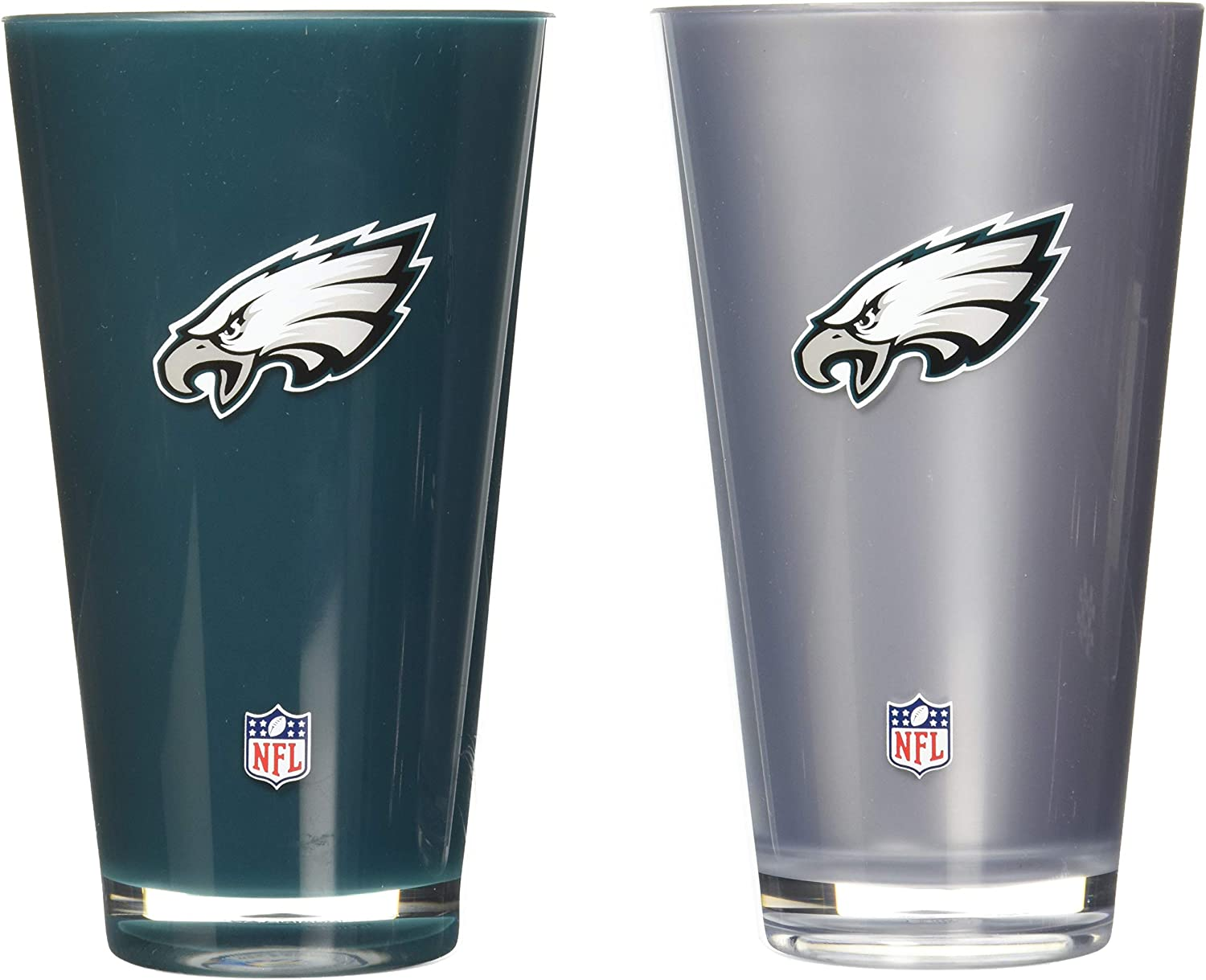 Duck House NFL Insulated Acrylic Tumbler Double-Wall Insulation Weighted Base Shatter-Proof Heat-Resistant BPA-Free 20oz Set of 2