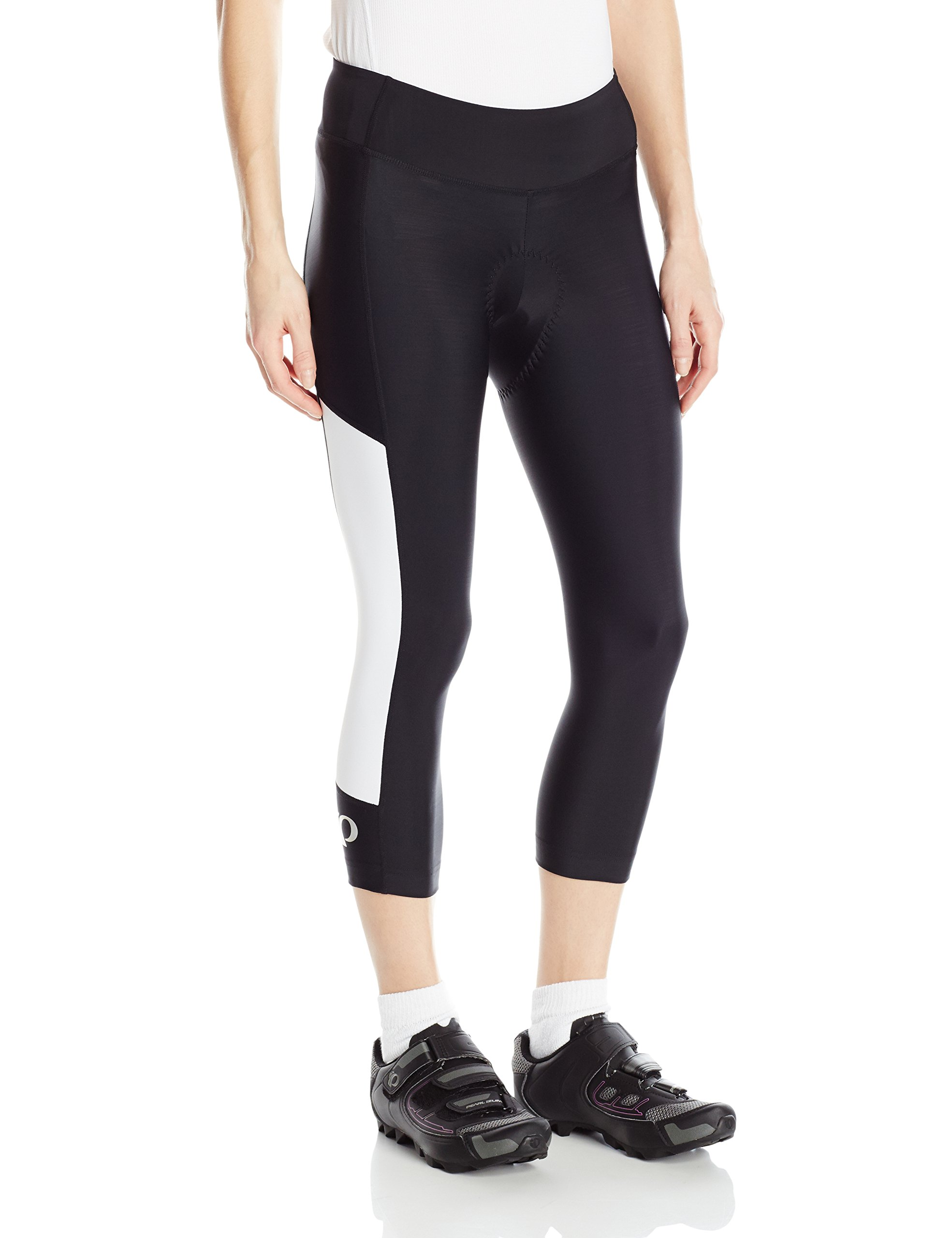 Pearl iZUMi Women's Escape Sugar CYC 3 Quarter Tights, Black/White, X-Small