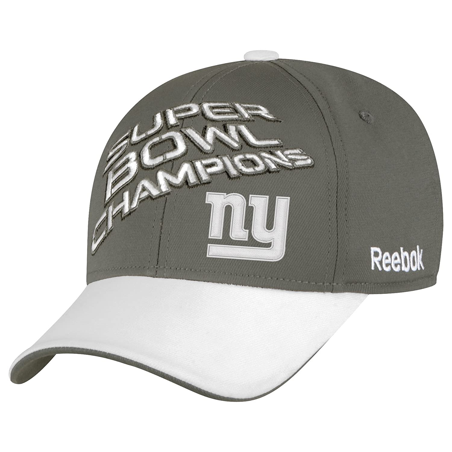timeless design 45c2a 512c6 Amazon.com   NFL New York Giants Super Bowl XLVI Champions Official Locker  Room Hat, Charcoal Grey, One Size Fits All   Ny Giants   Clothing