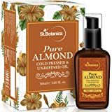StBotanica Pure Sweet Almond Coldpressed Oil, 50ml (For Hair & Skin)