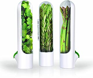 Prepara Herb Savor Pod 2.0 Set of 3  sc 1 st  Amazon.com & Amazon.com: Breathable Fresh Herb Keeper and Herb Storage Container ...