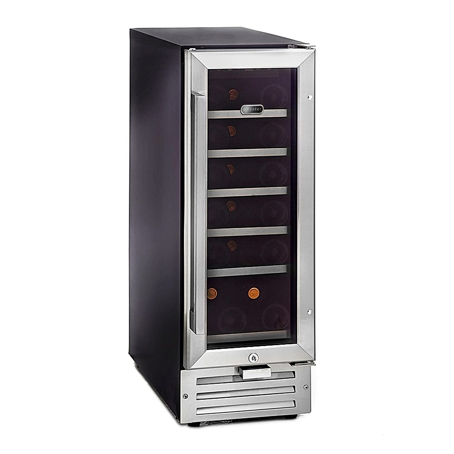 Integrated Wine Cabinet Amazoncom Whynter Bwr 18sd 18 Bottle Built In Wine Refrigerator