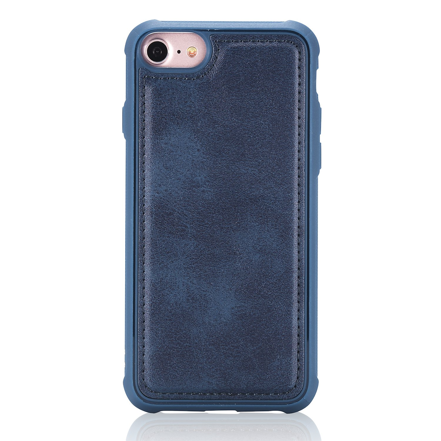 DAMONDY iPhone 8 Case iPhone 7 Case, Detachable 2 in 1 Cover Stand Wallet Purse Card Slot ID Holders Design Flip Cover Pocket Purse Leather Magnetic Protective for iPhone 7/iPhone 8-blue by DAMONDY (Image #5)