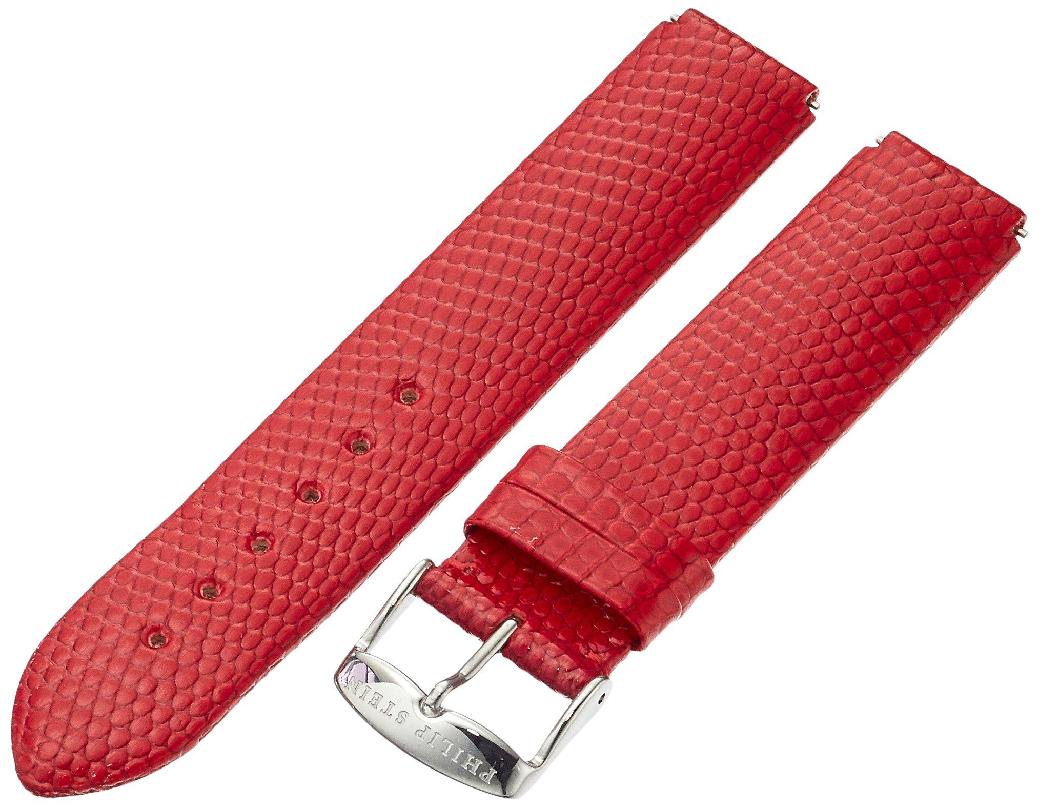 Philip Stein 1-ZR 18mm Leather Lizard Red Watch Strap