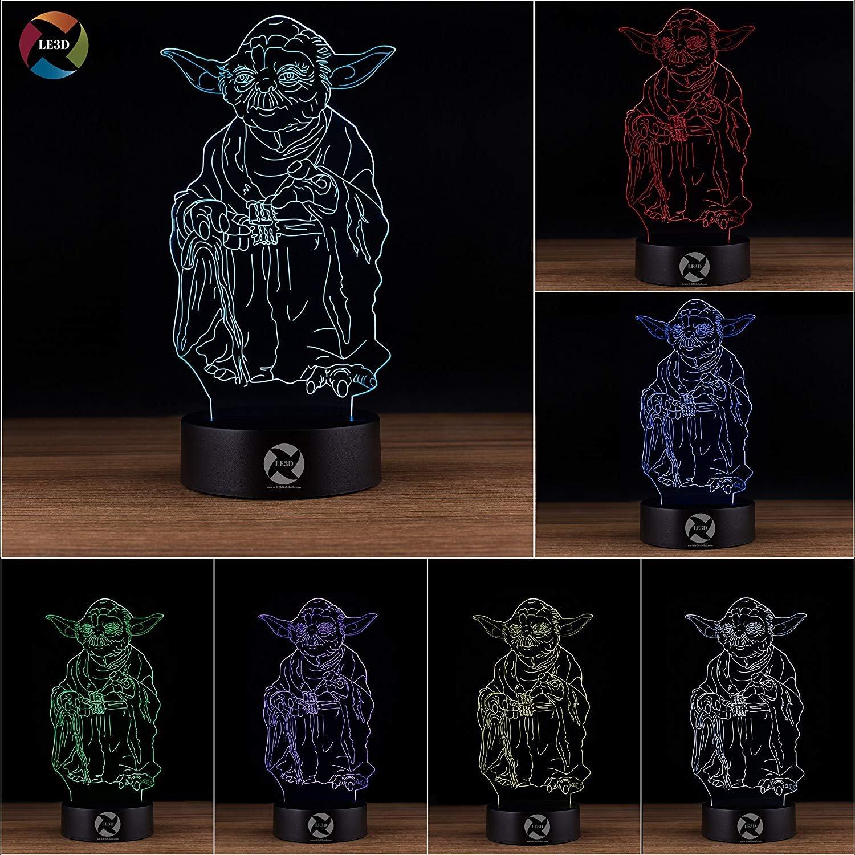 3D ナイトライト B0731K19F6 10609 Yoda Yoda