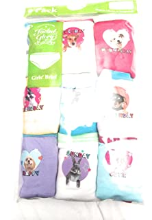 89e199566a68 Amazon.com: Faded Glory Girls' 9-Pack Underwear Briefs - Assorted ...