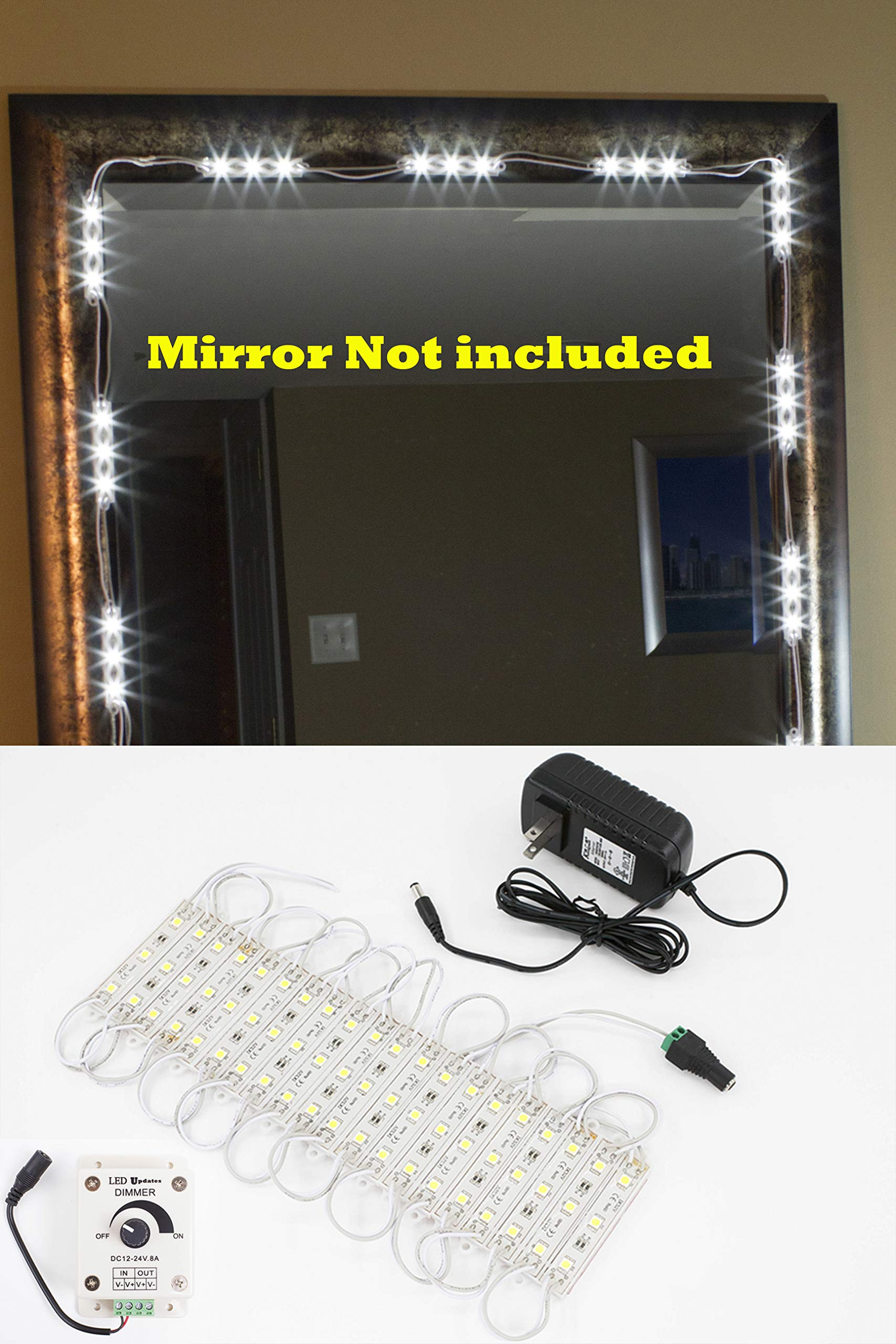 MAKE UP MIRROR LED LIGHT FOR VANITY MIRROR with dimmer and UL power supply eco series