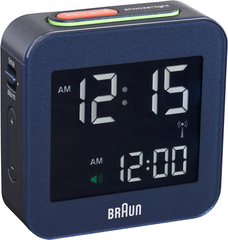 BRAUN BNC008BLU RC Réveil de voyage digital bleu