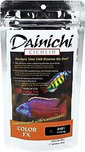 Dainichi Color FX Sinking Cichlid Food, Baby (1 mm), 8.8 Oz