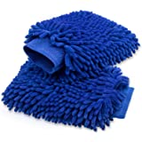 anngrowy Car Wash Mitt 2 Pack - Extra Large Size Clean Tools Kits- Premium Chenille Microfiber Winter Waterproof…