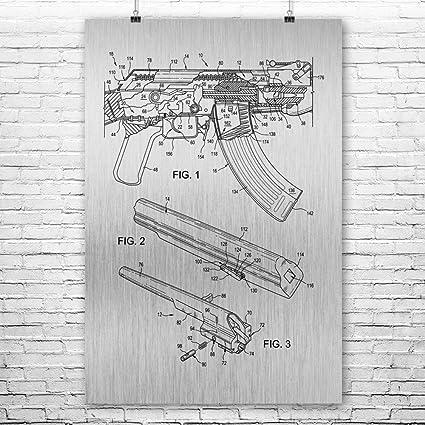 Amazon.com: AK-47 Rifle Poster Art Print, AK-47 Poster, Gun ... on