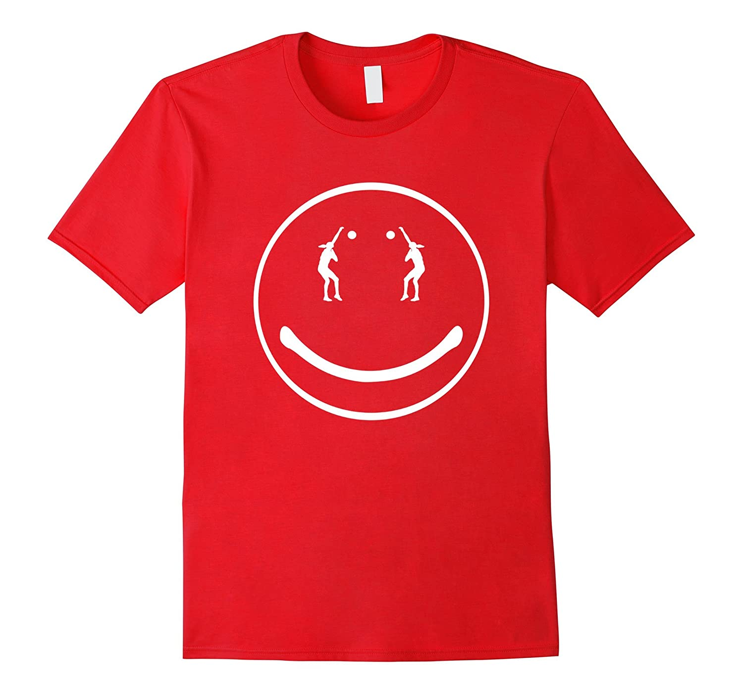 Volleyball Happy Face Smiley Volleyball T-shirt-Art