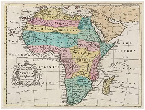 Historic 1747 Map - A New and Accurate map of Africa, from The Latest and  Best observations - 24in x 18in