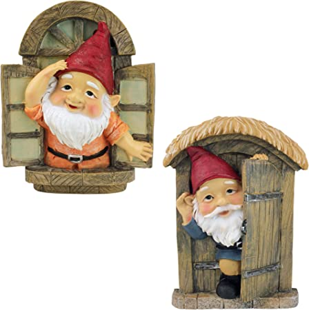 Knothole Welcome Gnomes Design Toscano Garden Gnome Statue Gnome Tree