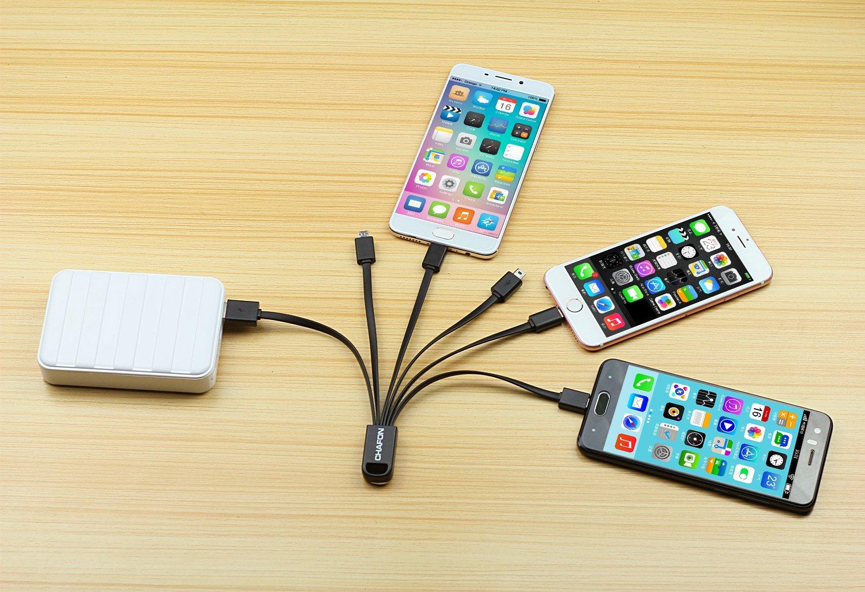 Amazon.com: CHAFON Multi USB Cable with Type C,8-pin Lightning,Micro ...