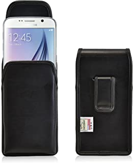 product image for Turtleback Holster Made for Samsung Galaxy S6 and S6 Edge Black Vertical Belt Case Leather Pouch with Executive Belt Clip Made in USA