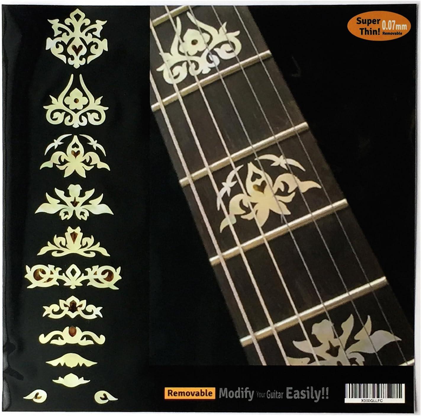 Pegatinas para guitarra y bajo con incrustaciones de diapasón – Garcia Deluxe – WP