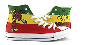hand painted shoes Zapatos Pintados a Mano Roger American Dad Original Diseño Converse All Star Hombres