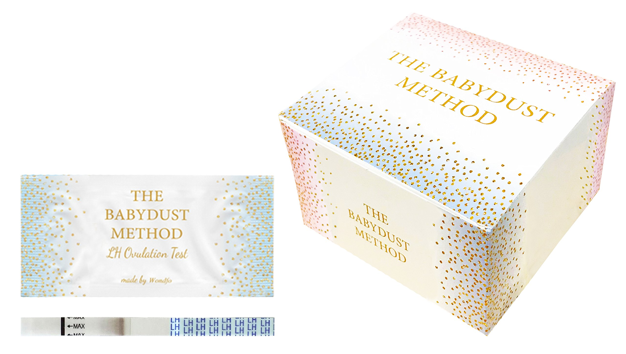 Wondfo Extra Wide Tests - by The Babydust Method - 50 LH ovulation test strips by The Babydust Method