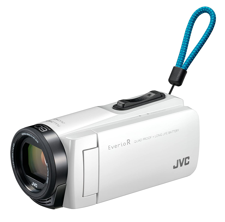 JVCKENWOOD JVC ビデオカメラ Everio R 防水 防塵 32GB シャインホワイト GZ-R470-W  シャインホワイト B01N4L80ZR