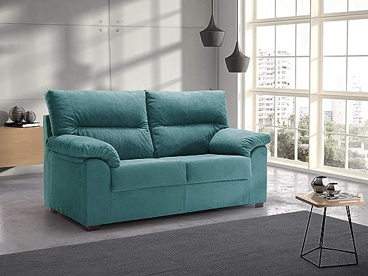 Tanuk Sofa DELLING 2 PLAZAS Turquesa: Amazon.es: Hogar
